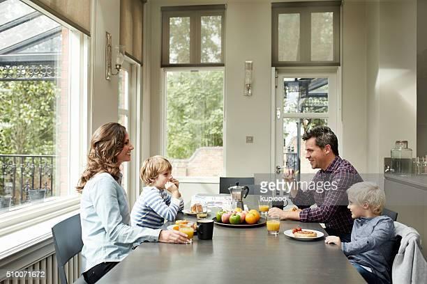 Una colazione in famiglia