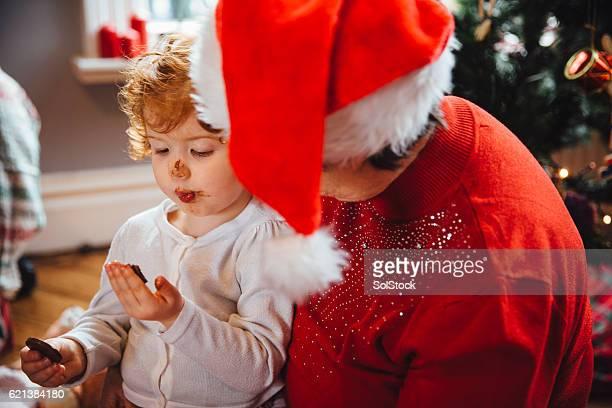 Enjoying Chocolate on Christmas Day