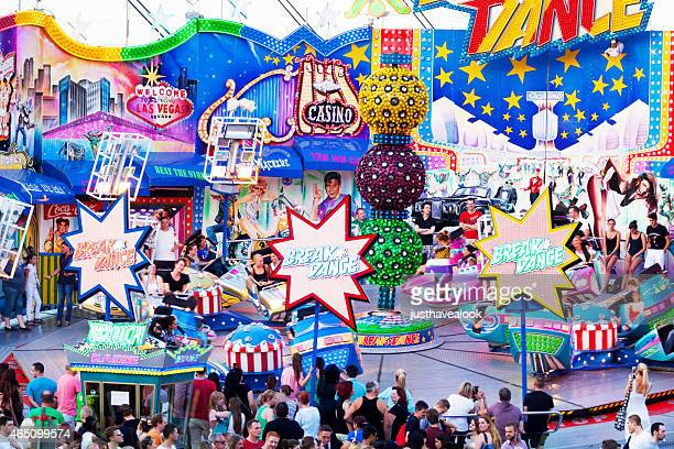Enjoying fun fair