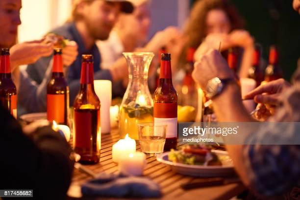 Enjoying good food and drinks