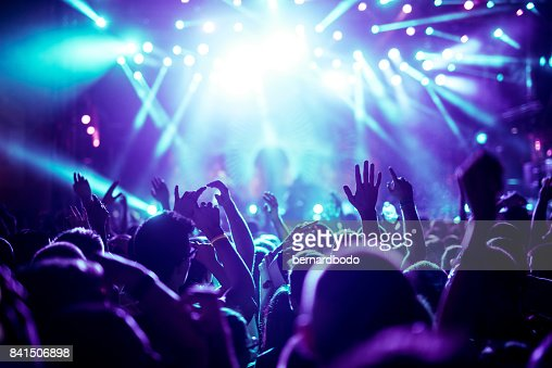 Enjoying great concert : Stock Photo