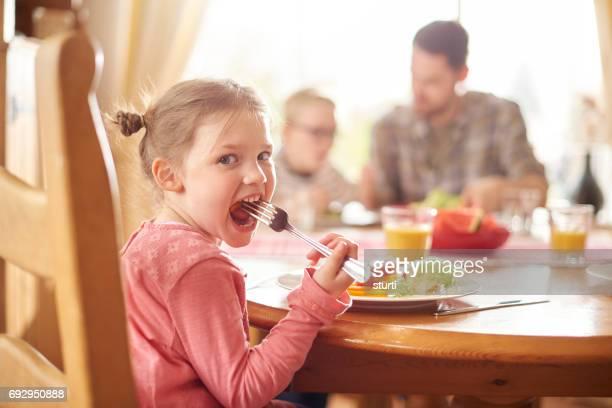 Genießen Sie ihr Mittagessen