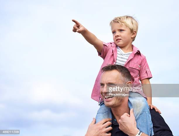 Genießen Sie die Zeit mit Vater