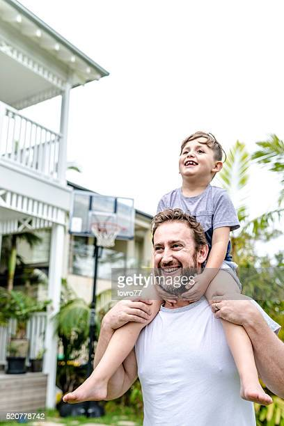 Enjoying his time with dad
