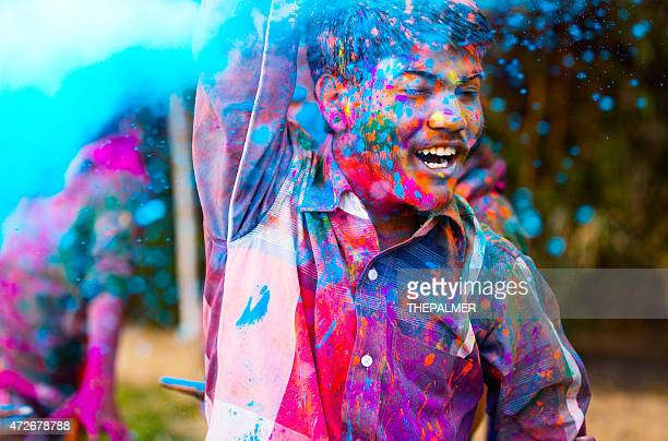 Enjoying Holi Festival to the limit