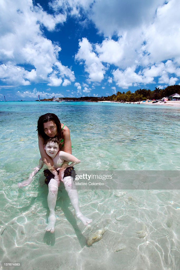 Enjoying holidays in caribbean : Stock Photo