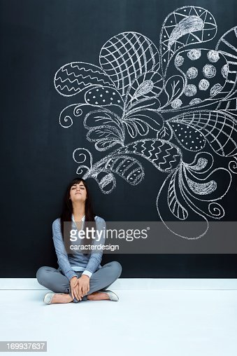 Enjoying imagination : Stock Photo