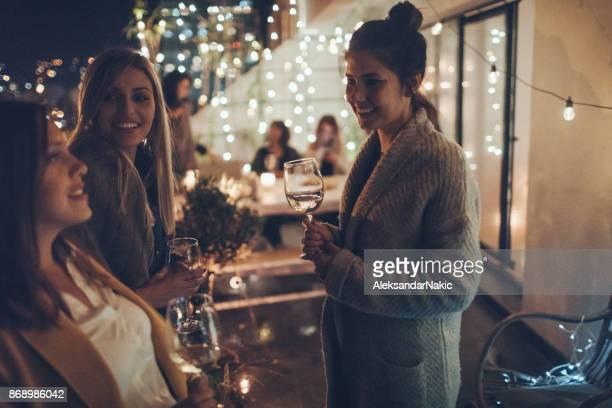 Enjoying in wine