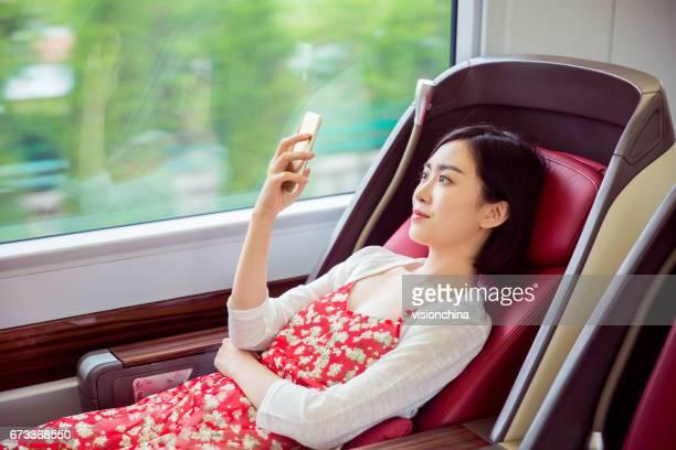 enjoying rail journey