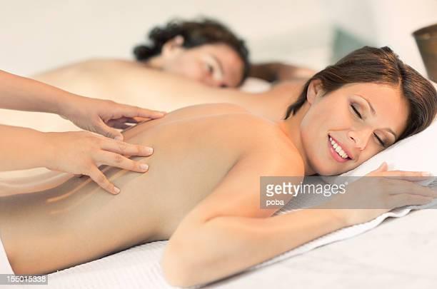 enjoying sauna and masage