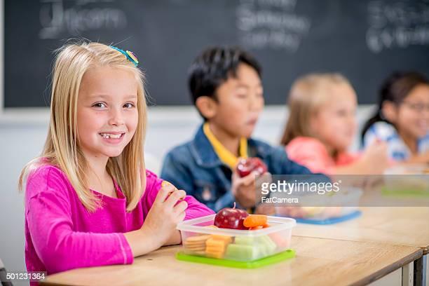 Enjoying Snacks in the Classroom