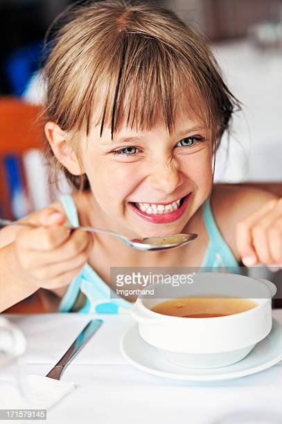 Enjoying soup