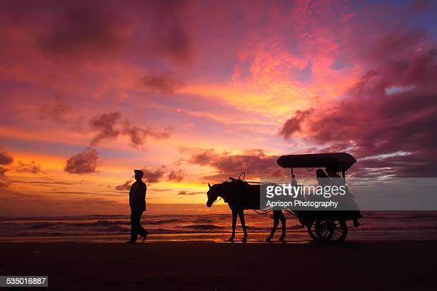 Enjoying Sunset at Parang Tritis Beach