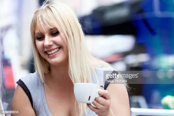 Enjoying the coffee aroma