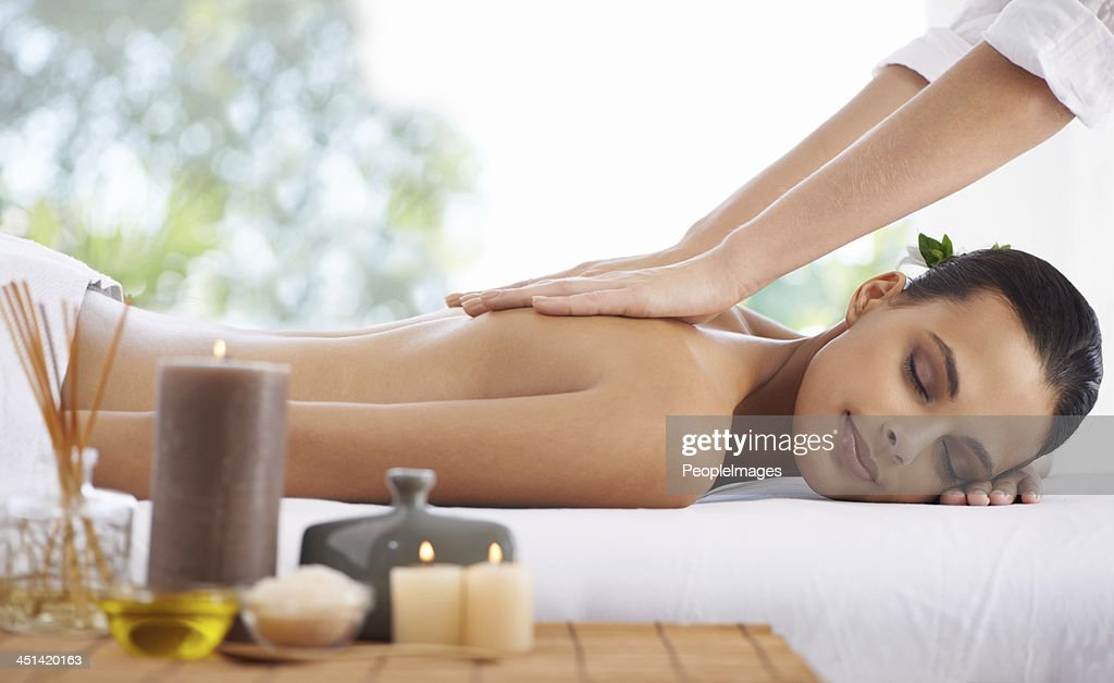 Enjoying the luxury of total spa relaxation