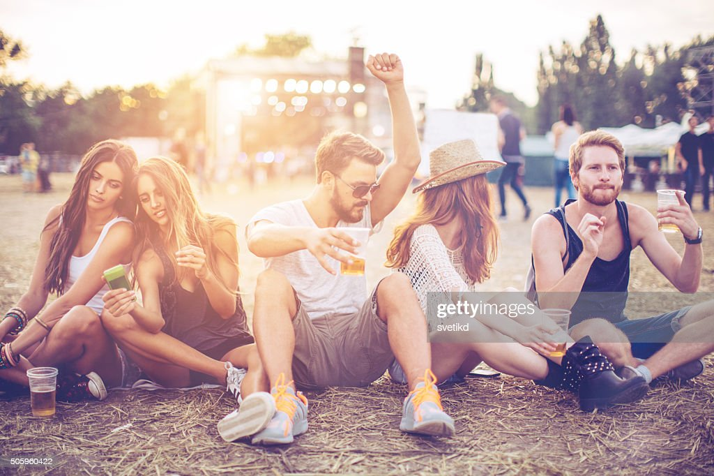 Enjoying the music festival : Stock Photo