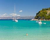 Enjoying the water, Lakka, Paxos, Greece