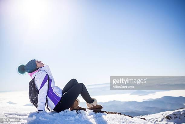 Enjoying the winter sun