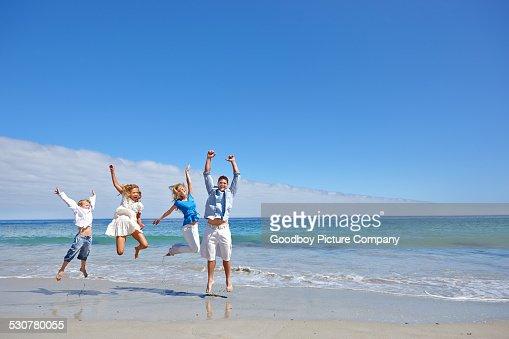 Enjoying their beach trip
