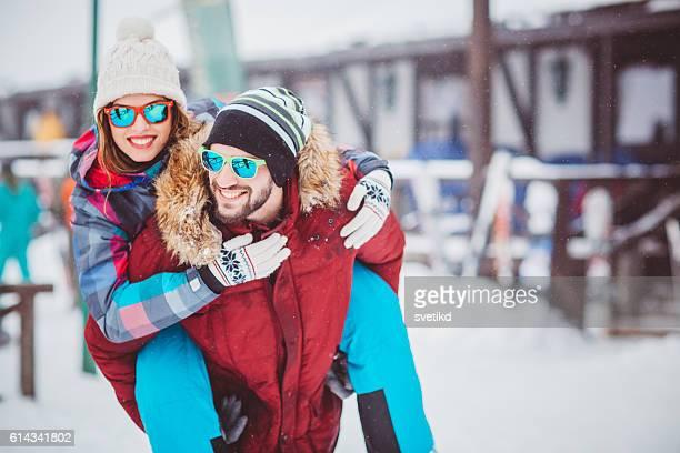 Enjoying their winter vacation