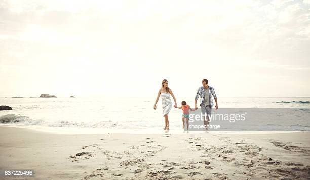 Enjoying time at the beach as a family