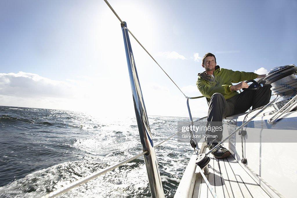 Enjoying windy sailing conditions