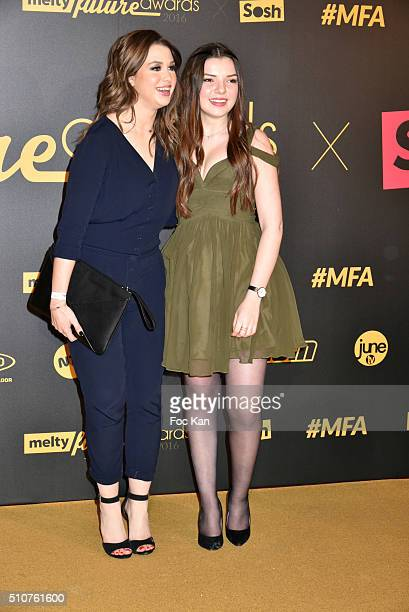 Enjoyphoenix and a guest attends The Melty Future Awards 2016 at Le Grand Rex on February 16 2016 in Paris France