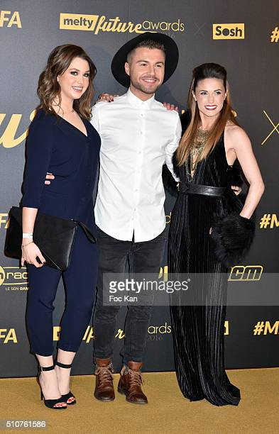 Enjoyphoenix Anthony Ruiz NRJ12 and Capucine Anav attend The Melty Future Awards 2016 at Le Grand Rex on February 16 2016 in Paris France