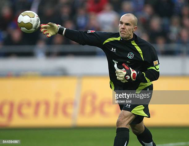 Enke Robert Football Goalkeeper Hannover 96 Germany throwing out the ball