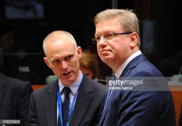 Enlargement and European Neighbourhood Policy Commissioner Stefan Fule attends the Foreign Affairs Council meeting at the EU Headquarters in Brussels...
