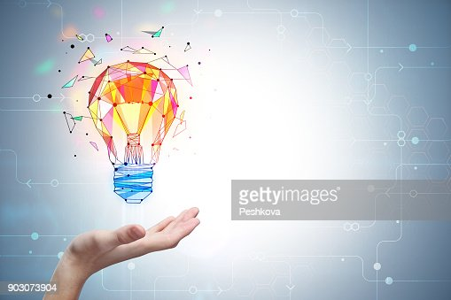 Enlightenment and innovation concept : Foto stock