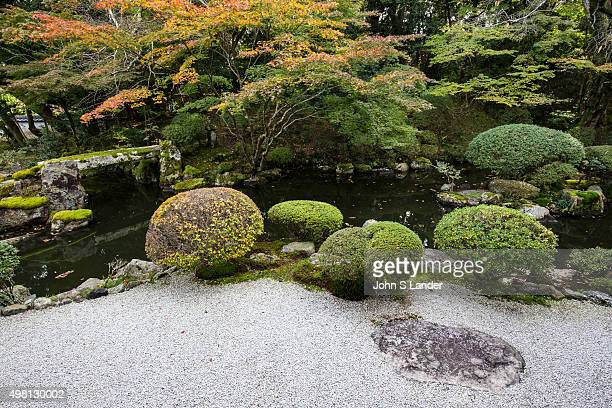 Enmanin Monzeki is a temple of the Imperial Family located in Otsu Shiga created in memorial to Mizuko MiinoMeien garden has a pond as its focus with...