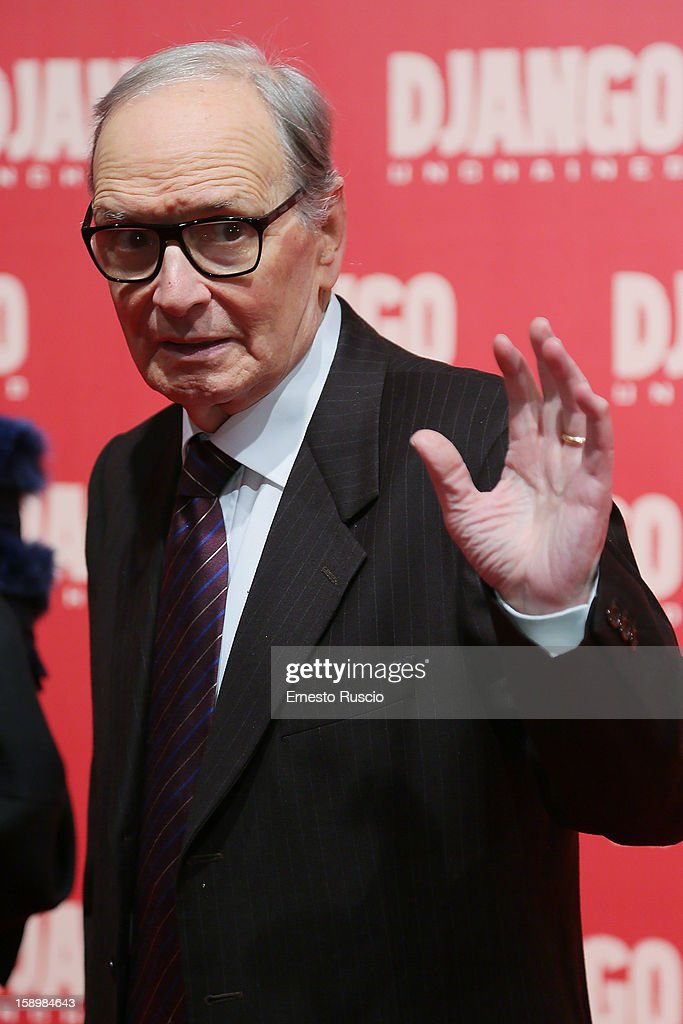 Ennio Morricone attends the 'Django Unchained' premiere at Cinema Adriano on January 4, 2013 in Rome, Italy.