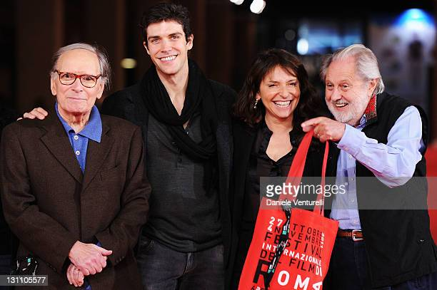 Ennio Morricone Roberto Bolle Susanne Bier and David Puttman attend the International Jury Photocall during the 6th International Rome Film Festival...