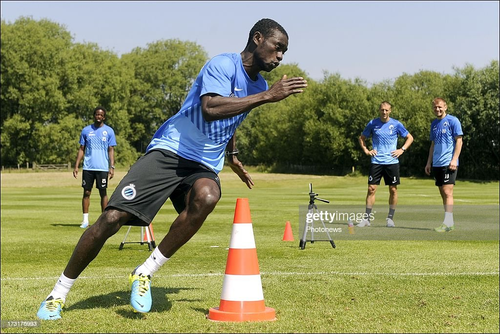 Enock Adu of Club Brugge KV in action during the second day of a Club Brugge summer camp training session on July 9, 2013 in Manchester, England.
