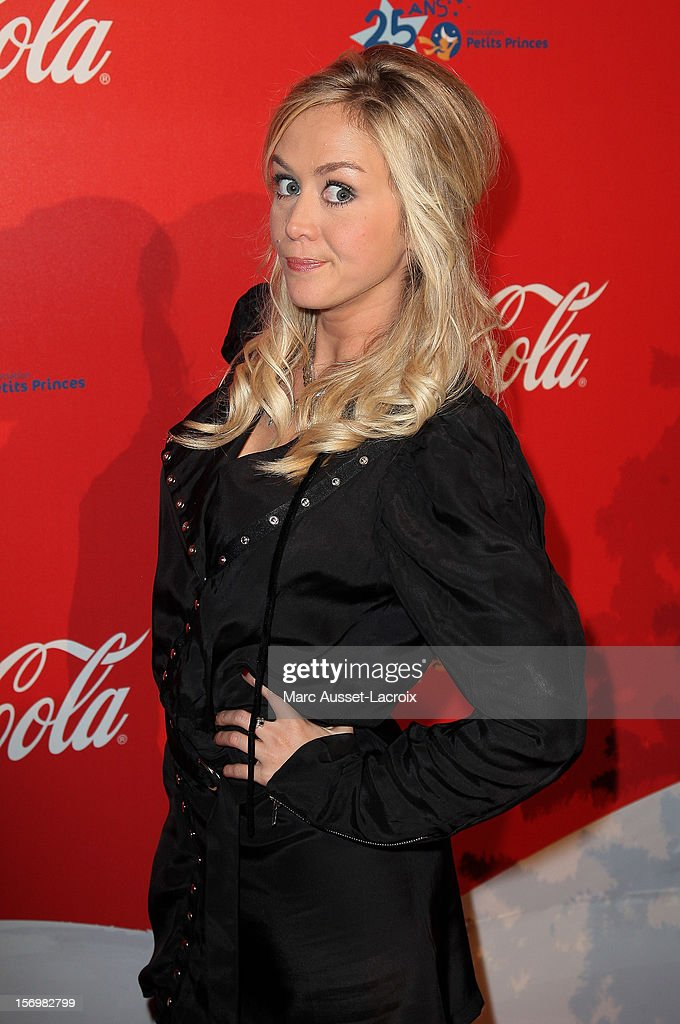 Enora Malagre poses at the Coca Cola Christmas windows inauguration at Le Showcase on November 26, 2012 in Paris, France.