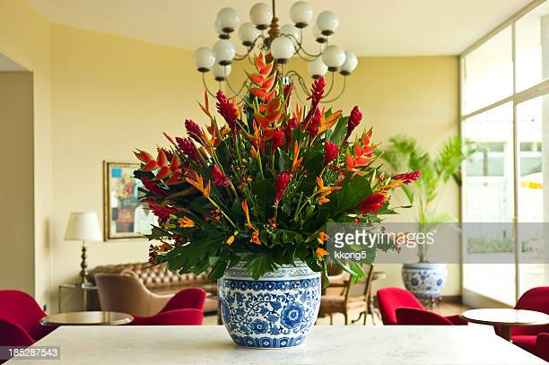 Enormous Flower Arrangement in Elegant Lounge