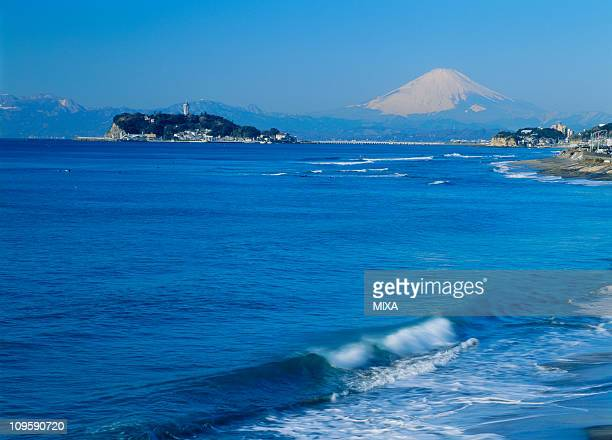 Enoshima and Mount Fuji, Kamakura, Kanagawa, Japan