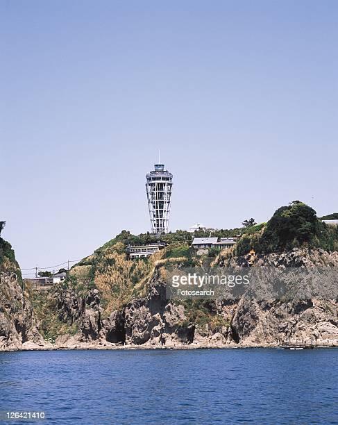 Enoshima Lighthouse Observatory, Shonan, Kanagawa Prefecture, Japan, Low Angle View, Pan Focus