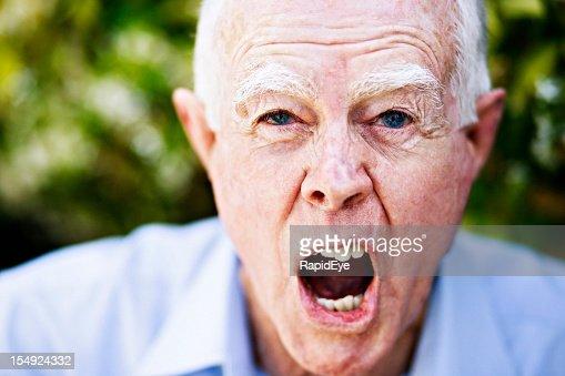 Erzürnt sein-Pensionär-eine wirkliche Grießgram