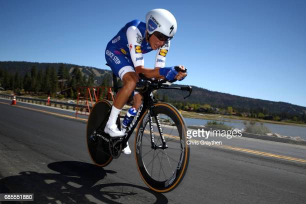 Enric Mas of Spain riding for QuickStep Floors rides during stage five of the AMGEN Tour of California from Ontario to Mt Baldy on May 18 2017 in...