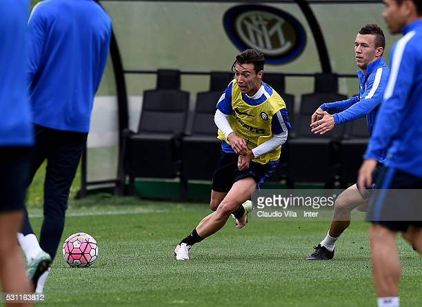 Enrico Baldini in action during the FC Internazionale training session at the club's training ground at Appiano Gentile on May 13 2016 in Como Italy