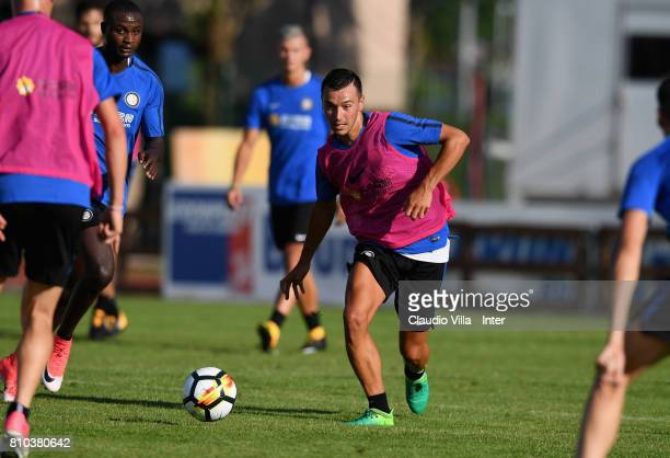 Enrico Baldini of FC Internazionale in action during a FC Internazionale training session on July 7 2017 in Reischach near Bruneck Italy