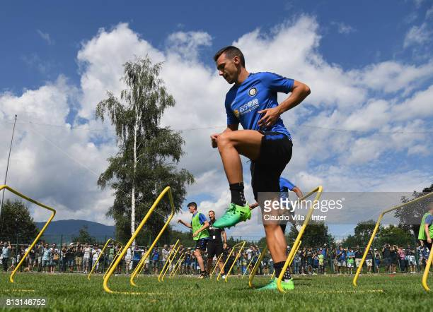 Enrico Baldini of FC Internazionale in action during the FC Internazionale training session on July 12 2017 in Reischach near Bruneck Italy