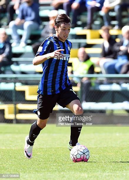 Enrico Baldini of FC Internazionale in action during the juvenile match between FC Internazionale and Udinese Calcio at Centro Sportivo Interello...