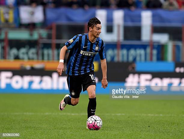 Enrico Baldini of FC Internazionale in action during the Juvenile TIM Cup final first leg match between FC Internazionale and FC Juventus on April 13...