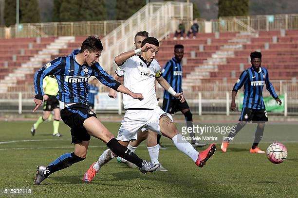 Enrico Baldini of FC Internazionale in action during the Viareggio Juvenile Tournament match between FC Internazionale and AC Spezia on March 16 2016...