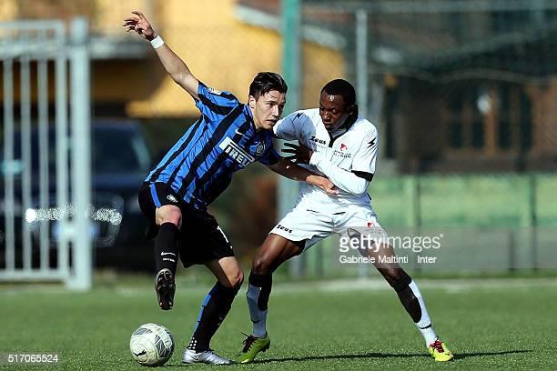 Enrico Baldini of FC Internazionale in action during the Viareggio Juvenile Tournament match between FC Internazionale and Ujana on March 23 2016 in...