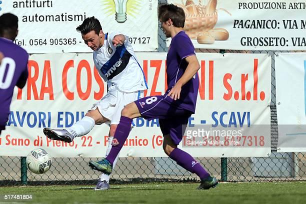 Enrico Baldini of FC Internazionale in action during the Viareggio Juvenile Tournament match between FC Internazionale and ACF Fiorentina on March 25...