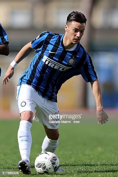 Enrico Baldini of FC Internazionale in action during the Viareggio Juvenile Tournament match between FC Internazionale and US Citta di Palermo on...